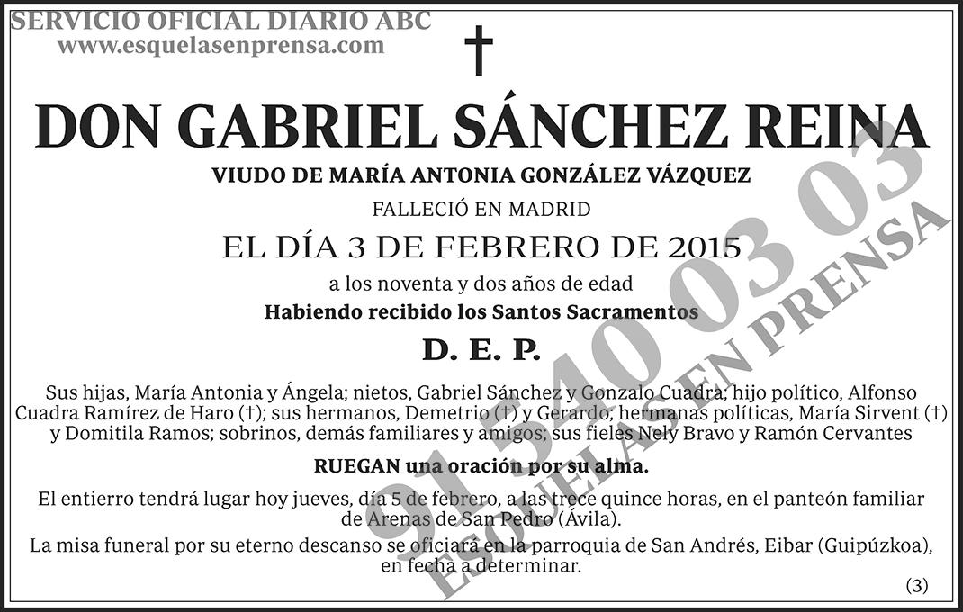 Gabriel Sánchez Reina